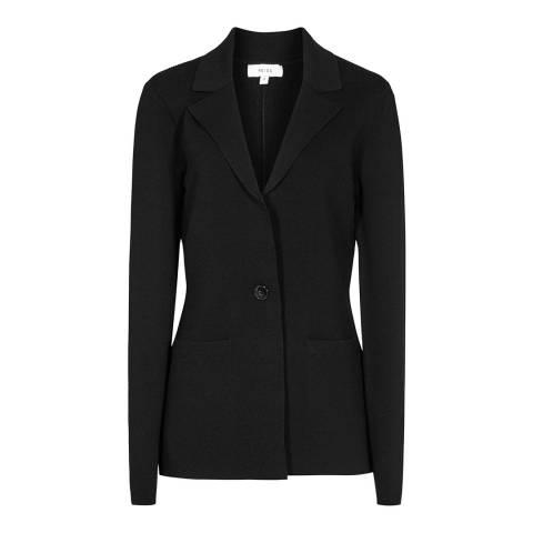 Reiss Black Maya Knitted Jacket