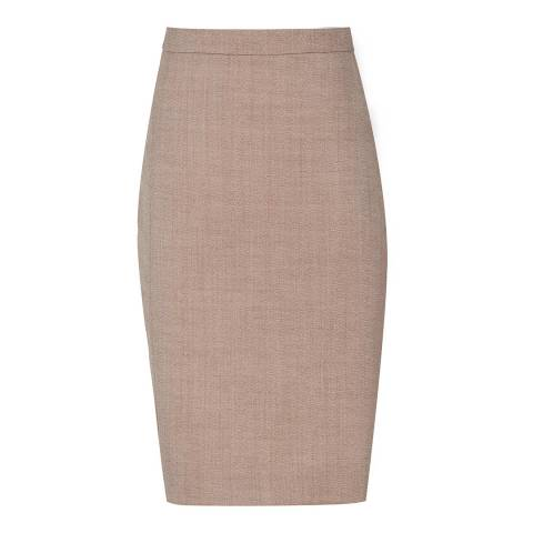 Reiss Pink Tailored Turner Skirt