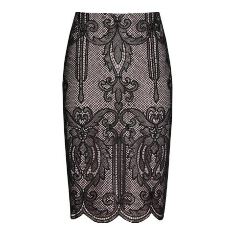 Reiss Black Lace Elaine Skirt