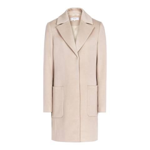 Reiss Oatmeal Harmony Relaxed Wool Jacket