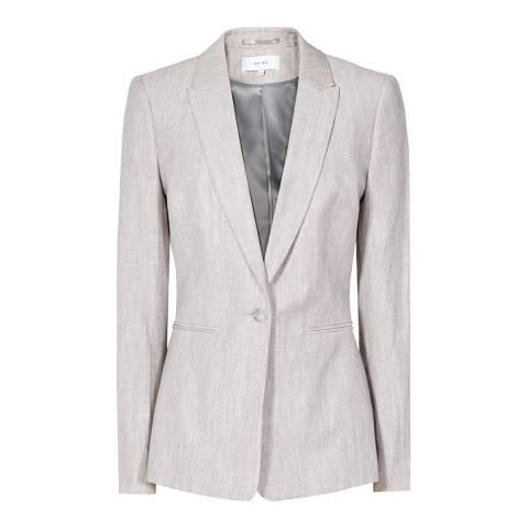 Reiss Peachy Grey Virginia Tailored Jacket