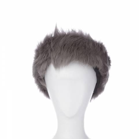 Shearling Boutique Grey Toscana Sheepskin Headband