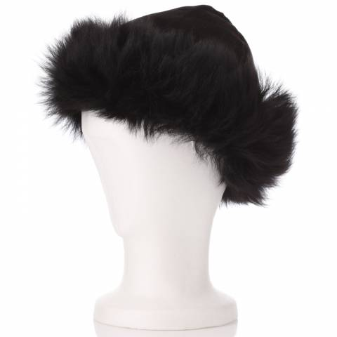 Shearling Boutique Black Toscana Hat