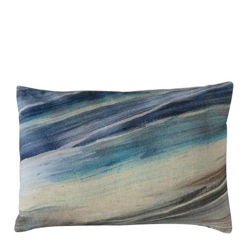 Gallery Blue Marble Distressed Mineral Print Cushion 35x50cm