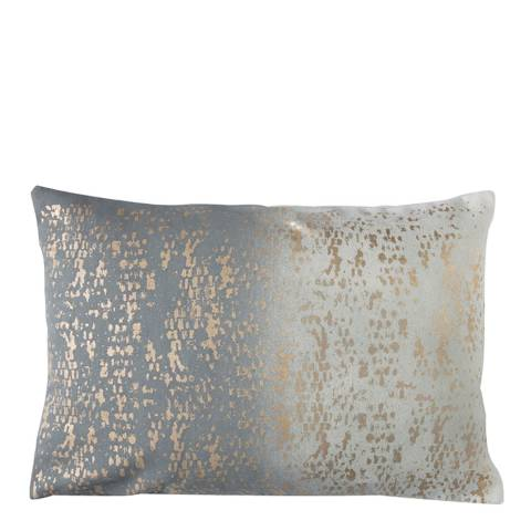 Gallery Grey/Gold Mineral Texture Cushion 50x35cm