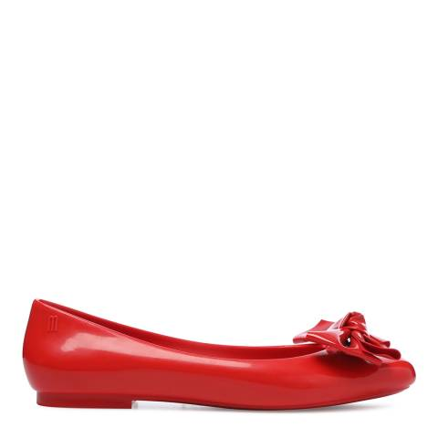 Melissa Red Doll Bow Ballet Flats