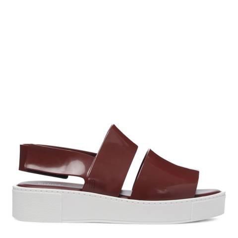 Melissa Plum Contrast Soho Sandals