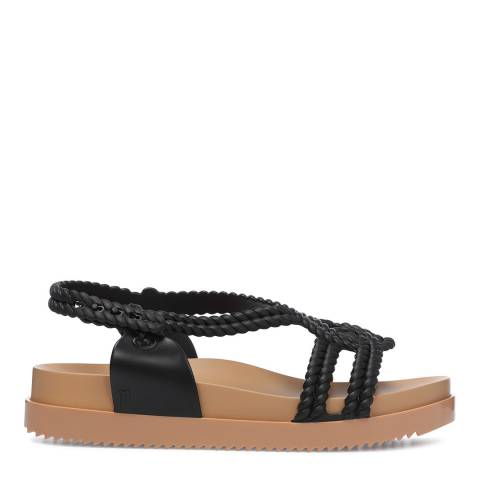 Melissa Black And Beige Salinas Cosmic Rope Sandals