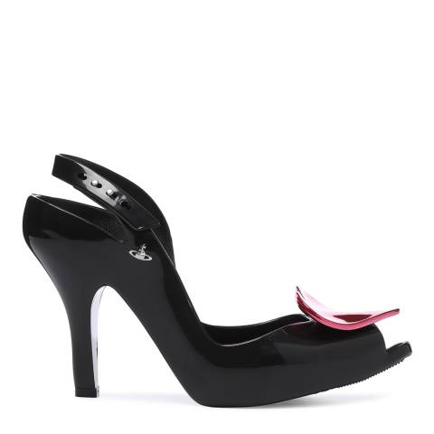 Vivienne Westwood for Melissa Black Heart Lady Dragon 19 Peep Toe Heels
