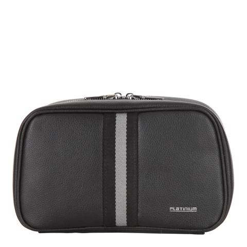Platinium Black Wash Bag