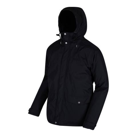 Regatta Black Waterproof Sternway II Coat
