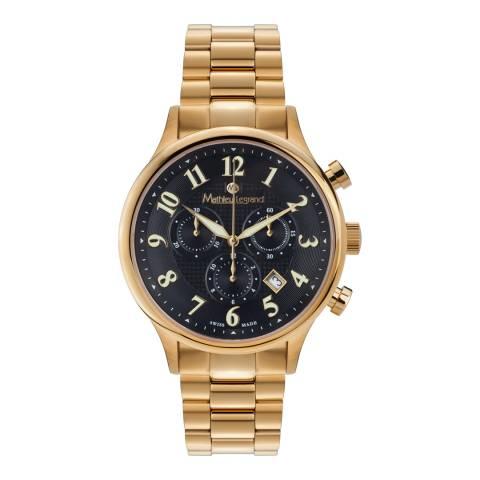 Mathieu Legrand Men's Gold Metropolitain Watch