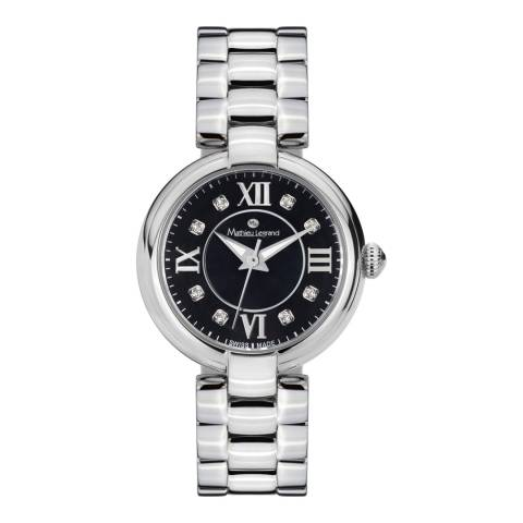 Mathieu Legrand Women's Silver Stainless Steel Fleur Du Matin Watch