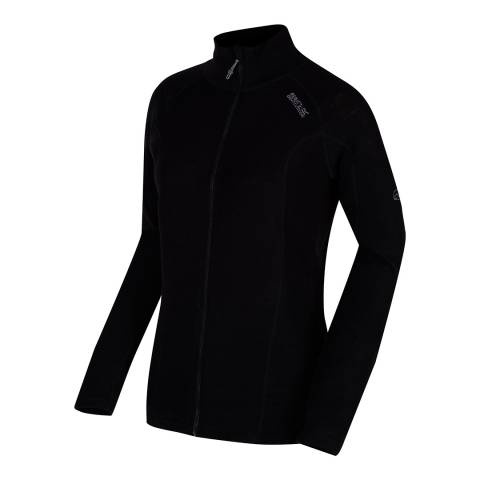 Regatta Black Tunkin Wool Blend Baselayer Top