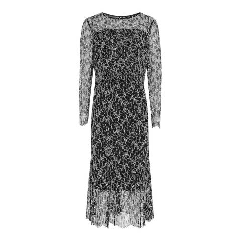 Reiss Black Lace Maine Dress