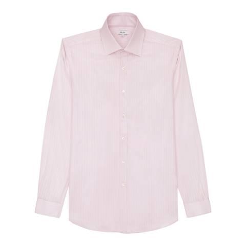 Reiss Pink Couture Textured Cotton Shirt
