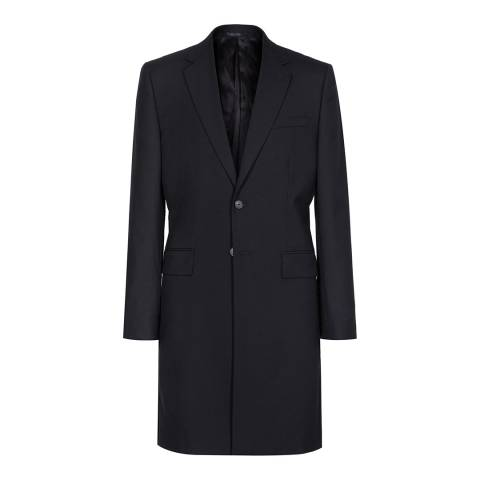 Reiss Navy Paris Longline Wool Blazer