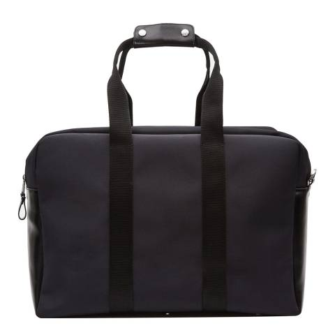 Reiss Navy Leather Oxfordshire Holdall