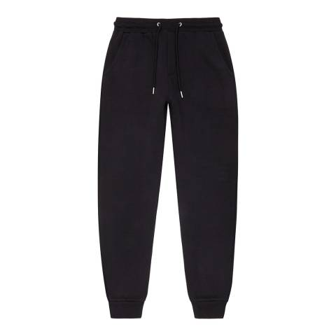 Reiss Navy Alistar Jersey Cotton Blend Sweatpants