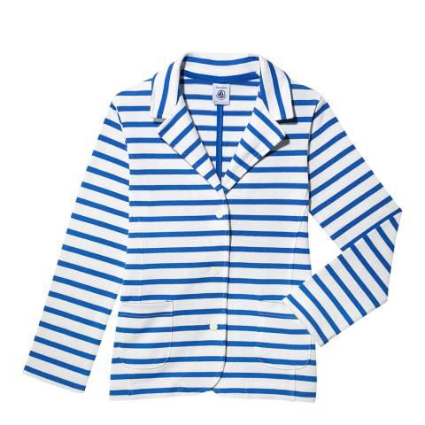 Petit Bateau Girl's White Breton Jacket