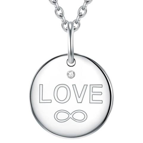 Tess Diamonds Silver Heart Love Necklace