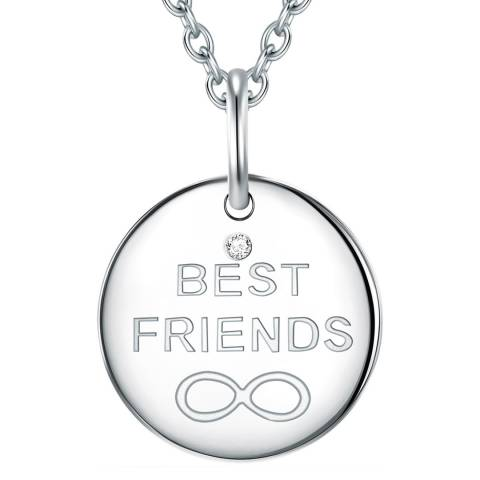 Tess Diamonds Silver Best Friends Necklace