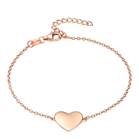 Carat 1934 Rose Gold Heart Bracelet
