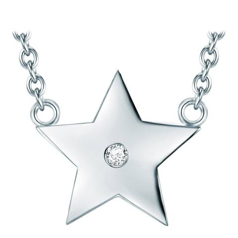 Tess Diamonds Silver Star Necklace