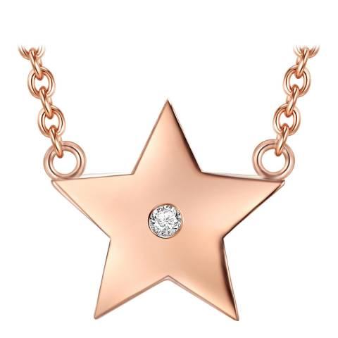 Tess Diamonds Rose Gold Star Necklace