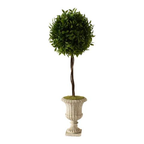 Gallery Green/White Faux Topiary In Classic Urn