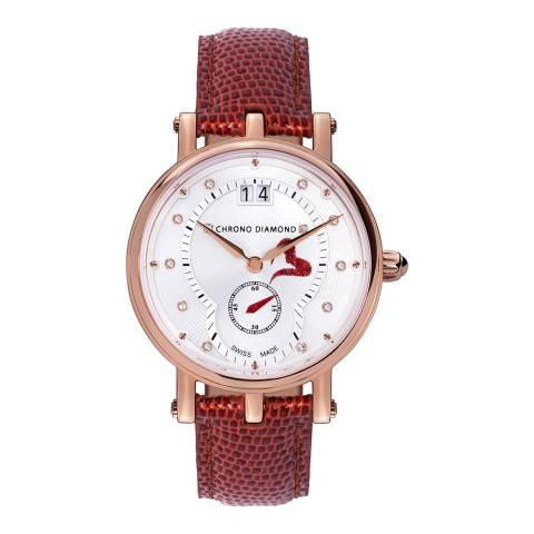 Chrono Diamond Women's Rose Gold/Brown Ariadne Watch