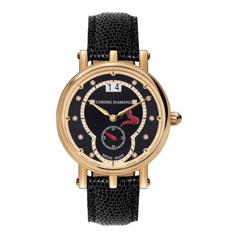 Chrono Diamond Women's Gold/Black Ariadne Watch