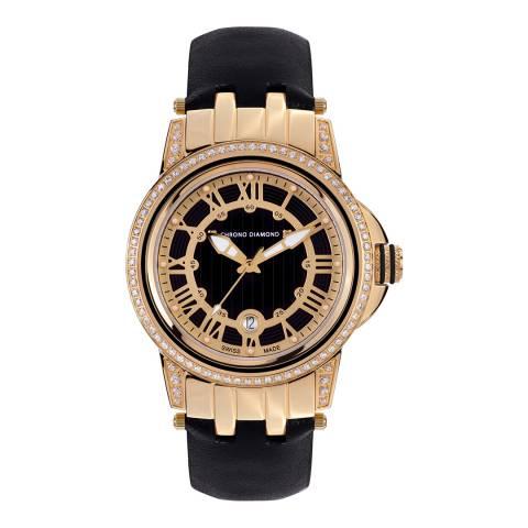Chrono Diamond Women's Gold/Black Dionne Watch