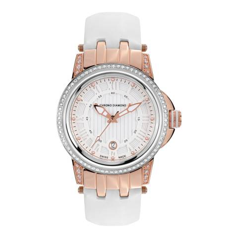 Chrono Diamond Women's Rose Gold/White Dionne Watch