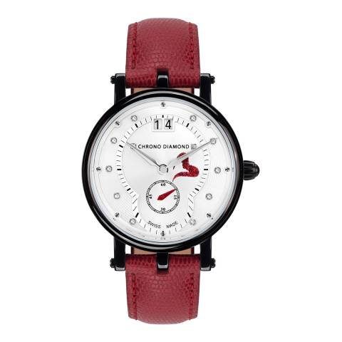 Chrono Diamond Womens Red/Black Ariadne Watch