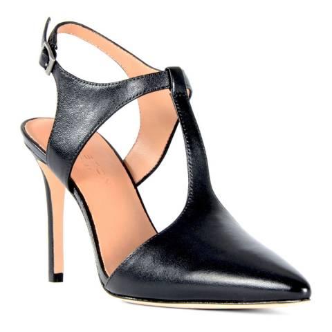 Halston Heritage Ruthie Leather Black Heel