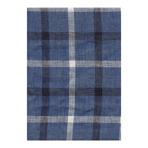 Hackett London Blue/Charcoal Grey Multi Madras Scarf