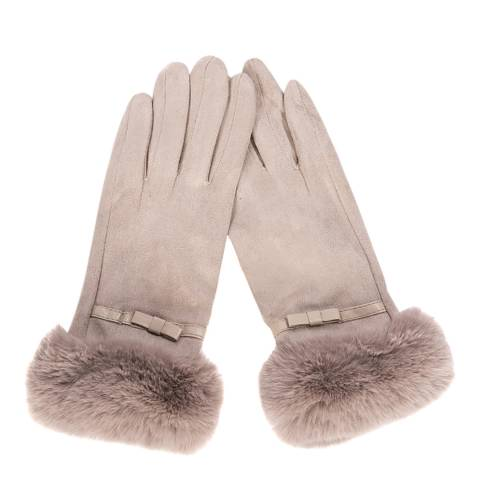 JayLey Collection Blush Faux Fur Gloves