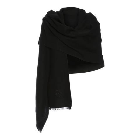 JayLey Collection Black Silk Blend Scarf
