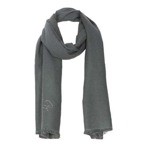 JayLey Collection Grey Cashmere Blend Scarf