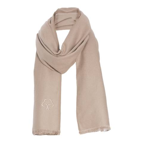 JayLey Collection Cream Silk Blend Scarf