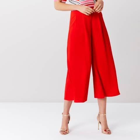 Coast Red Gilly Cropped Wide Leg Trousers