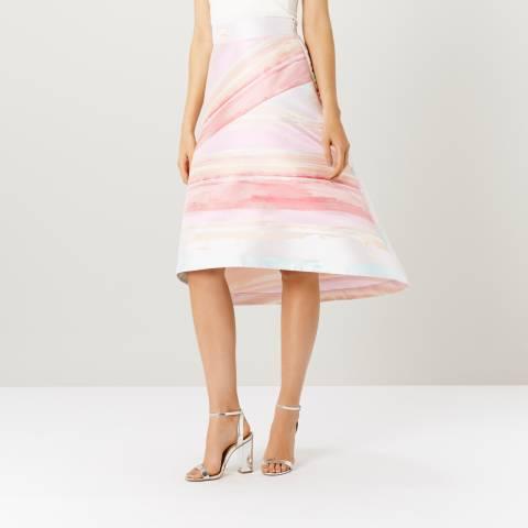 Coast Multi Havanna Stripe Skirt