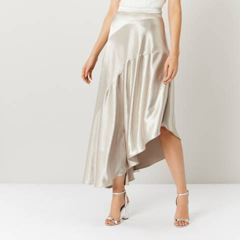 Coast Champagne Harris Metallic Skirt