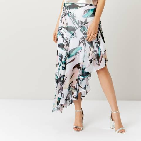 Coast Multi Butani Asymetric Printed Skirt