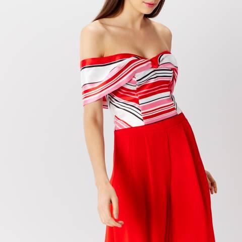 Coast Red Stripe Milo Bardot Top