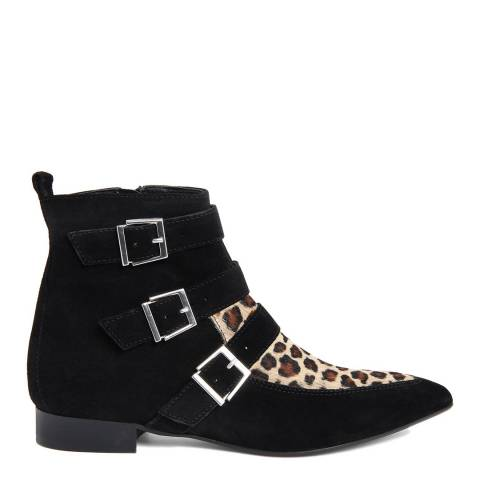 Gusto Leopard Print Spice Ankle Boots