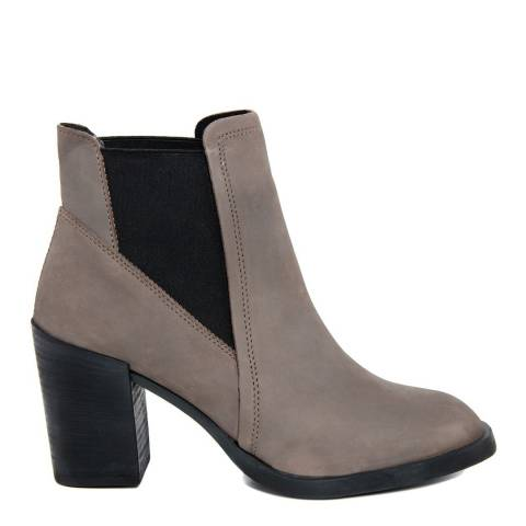 Gusto Smoke Leather Margot Ankle Boots