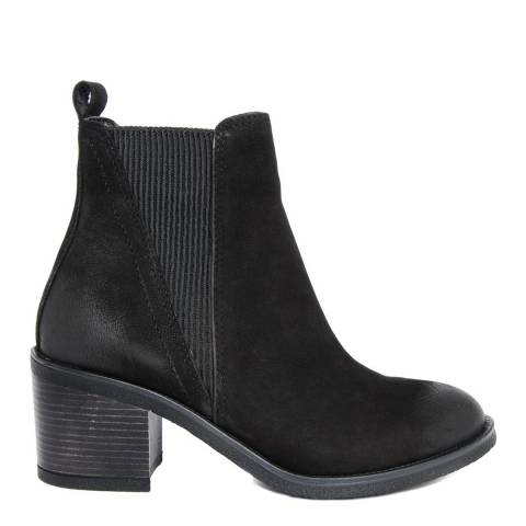 Gusto Black Leather Kent Chelsea Boots
