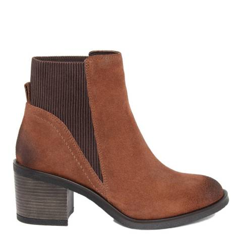 Gusto Tan Leather Kent Ankle Boots